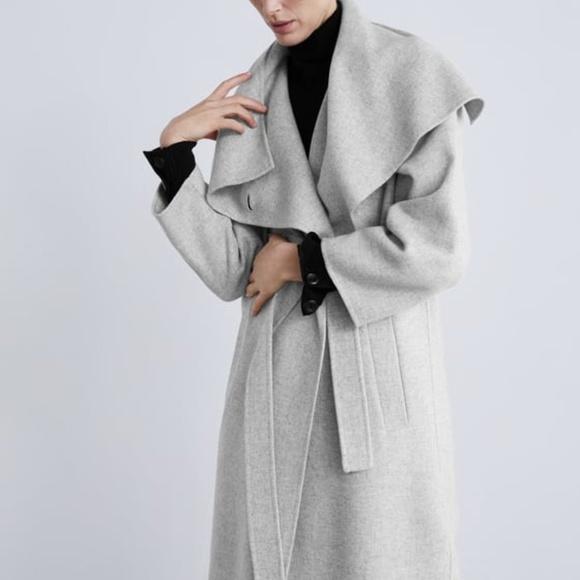 Zara Jackets & Blazers - {zara} wool waterfall coat